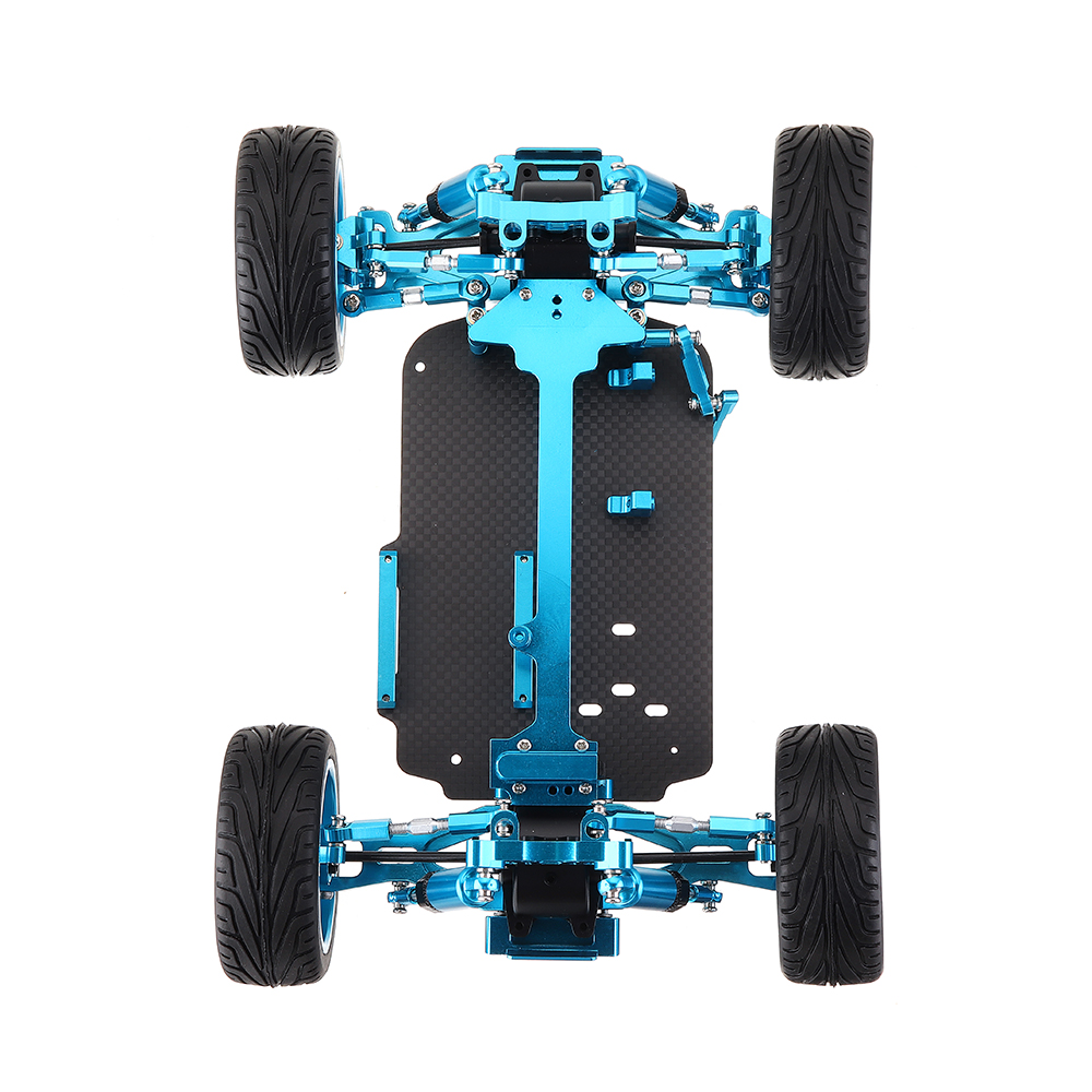 Wltoys 1/18 4WD A959 A969 A979 All Metal RC Car Chassis RC Vehicle Models Parts Red/Gold/Titanium - Photo: 6