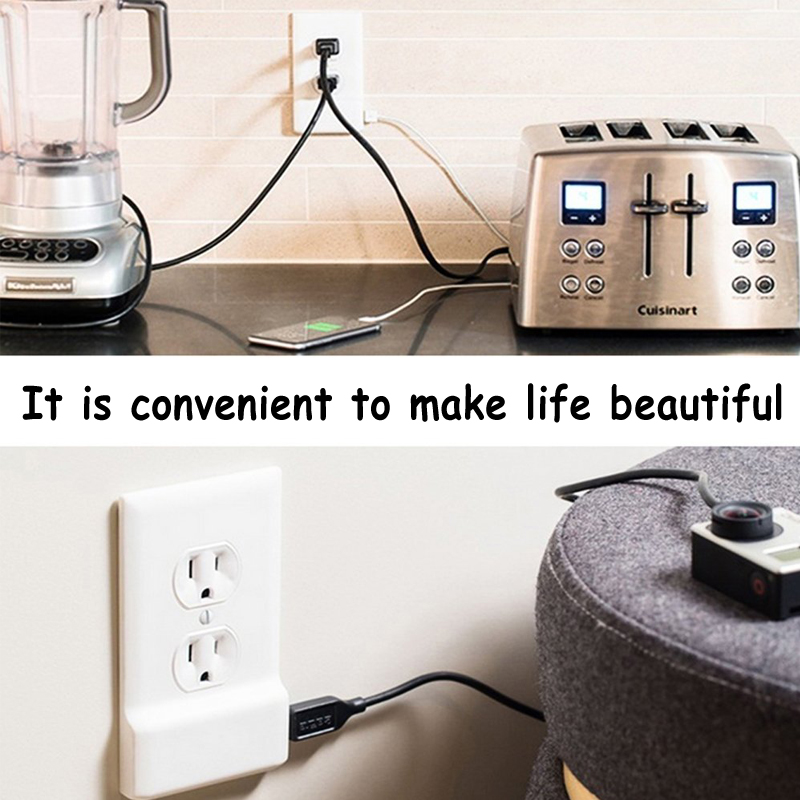 Dual USB Socket Ports Wall Charger Power Adapter Socket Outlet Panel