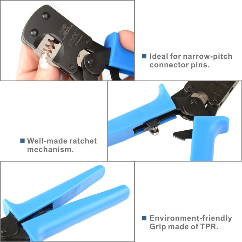 Fasen IWS-3220 Crimping Tool For JST DuPont Terminals Mini Hand Crimper Plier For Narrow-pitch Connector Pins 0.03-0.5mm2 AWG: 32-20
