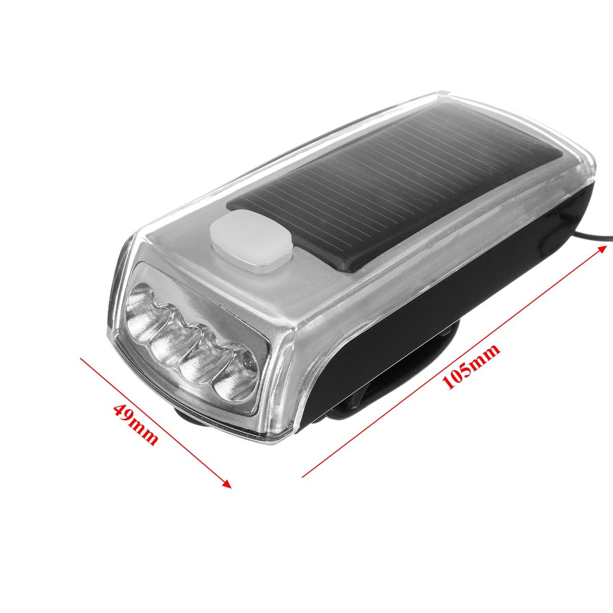 BIKIGHT 4 LED 1200LM USB Rechargeable Solar Bicycle Light Headlight Speaker