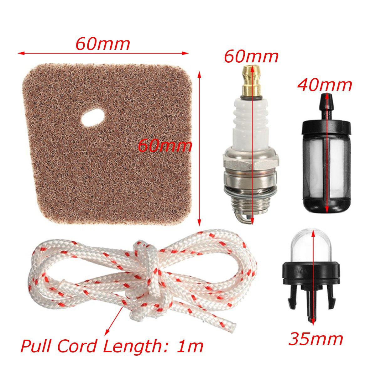 Air Filter Spark Plug Full Service Kit For HS45 Petrol Hedge Cutter Trimmer