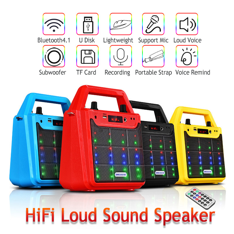 K7 Portable Hand-held Outdoor bluetooth Speaker AUX TF Card Heavy Bass Subwoofer