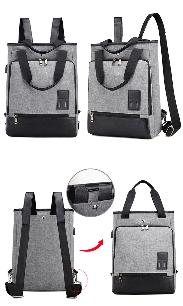 Men Women Canvas Travel 13.3 Inch Laptop Handbag Backpack