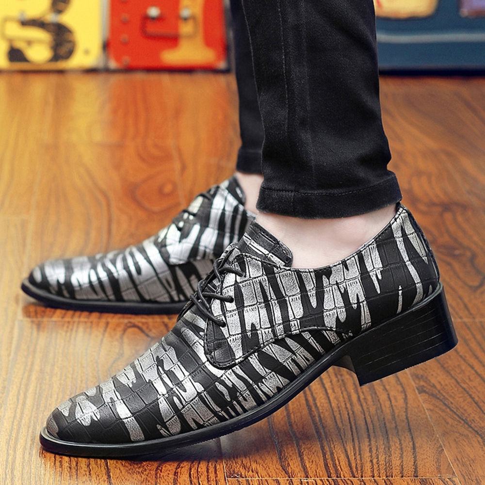 Men Comfy Leather Pointed Toe Business Shoes Formal Shoes