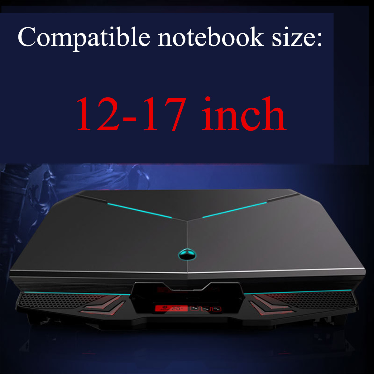 5 Fans Adjustable Laptop Cooling Pad Cooler Heat Dissipation For 12 Inch-17 Inch Laptop Notebook Macbook