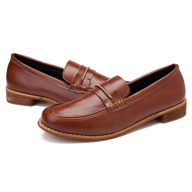 Large Size Daily Slip On Flat Loafers For Women