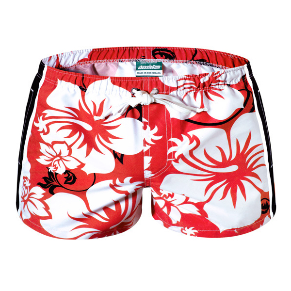 Mens Summer Quick Drying Printing Beach Swimming Casual Home Polyester Shorts