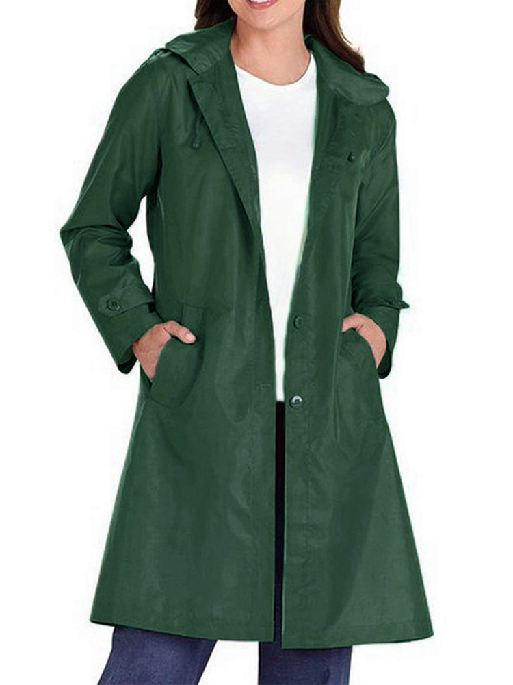 Autumn Women Trench Coat Solid Double Breasted Dust Coat