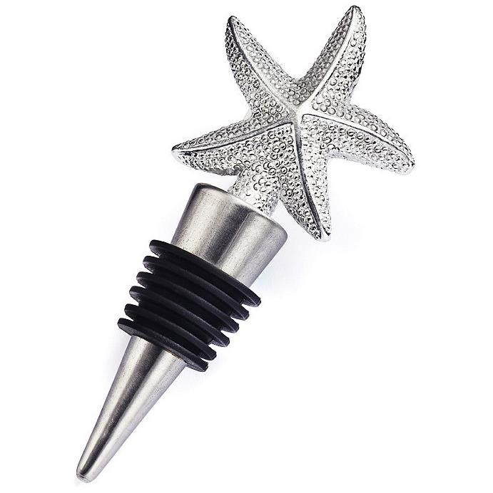 KCASA KC-SP102 Starfish Wine Bottle Stopper Wedding Favor Gift Party Beach Summer