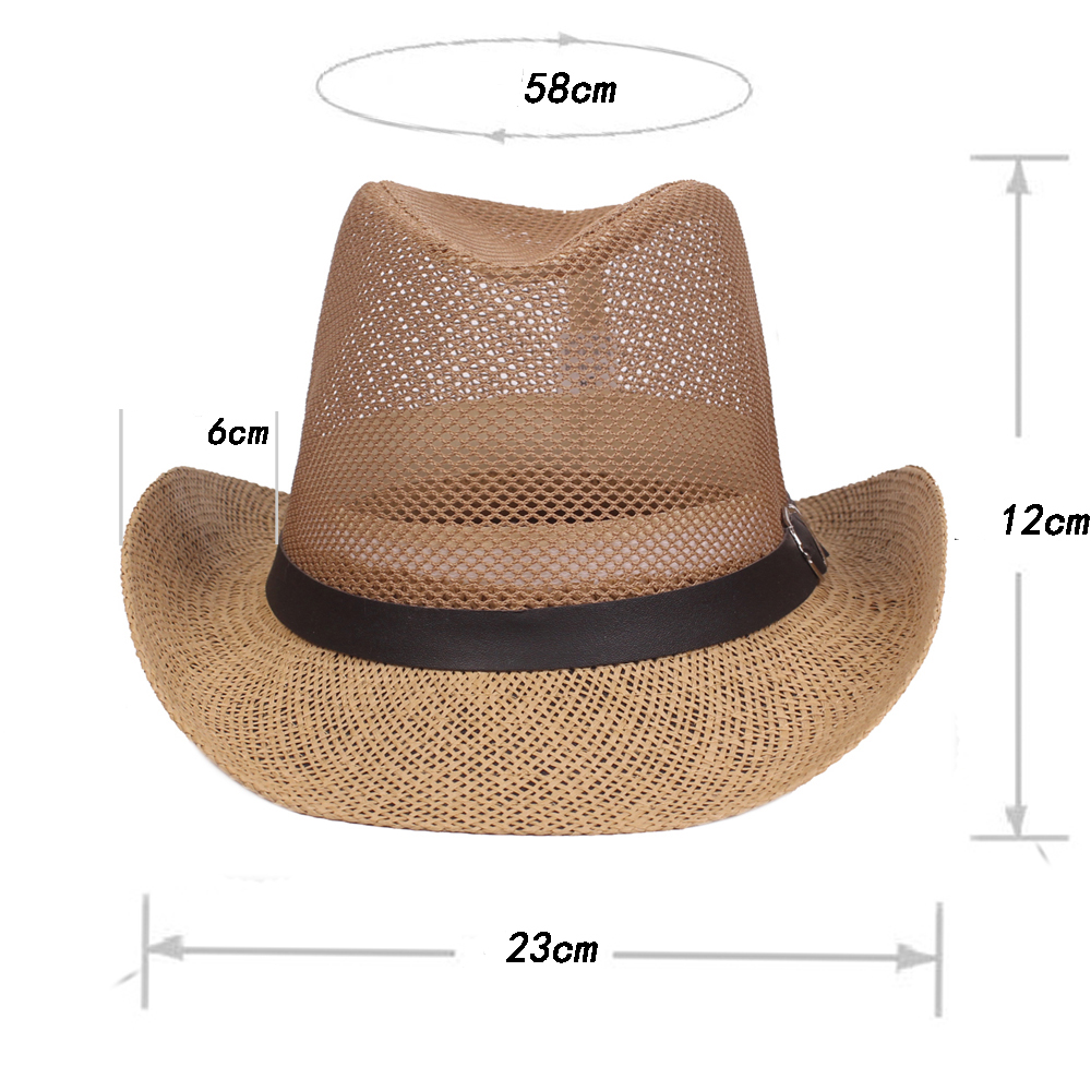 Men Outdoor Breathable Mesh Sunshade Bowler Jazz Hat