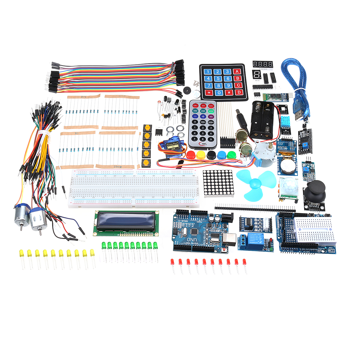 Ultimate UNO R3 Starter Kit With OLED SPI bluetooth LCD1602 RTC DHT11 For Arduino