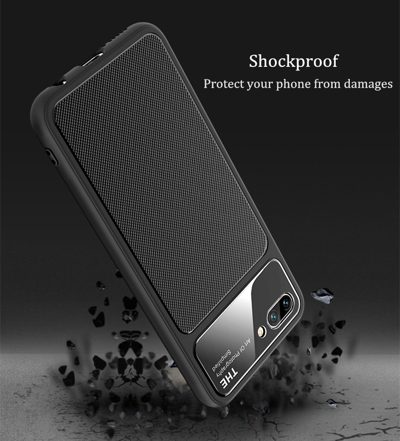 Bakeey™ Luxury Tempered Glass Shockproof Silicone Back Cover Protective Case for Huawei Honor 10