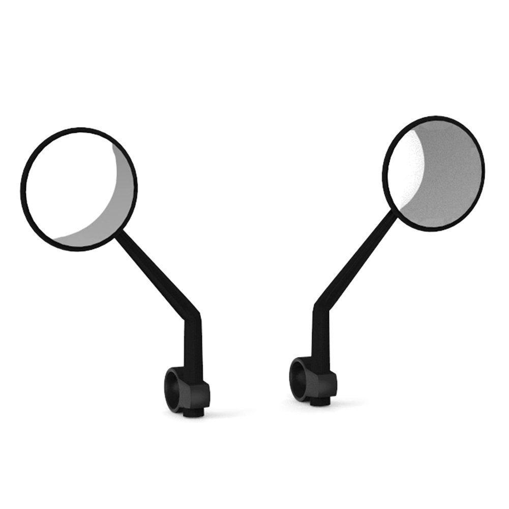 BIKIGHT 2pcs Scooter Rearview Mirror Convex Mirror for XIAOMI Scooter Accessory Large View Rotatable
