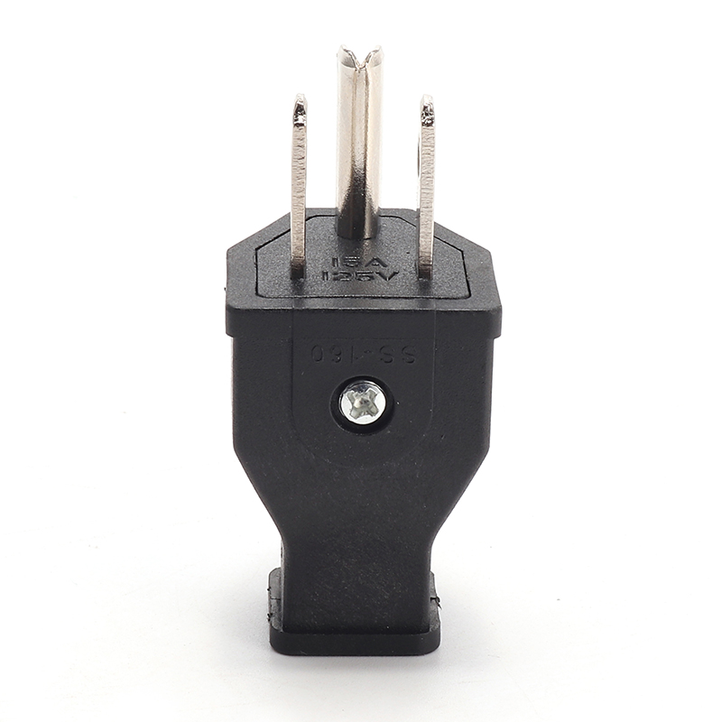 Loskii HA-16 US Wire Plug Residential Straight Blade Plug 15-Amp 125-volt Two Pole Three Wire