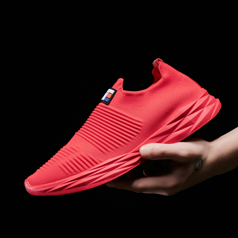 Men Breathable Mesh Casual Slip on Sneakers Sports Shoes
