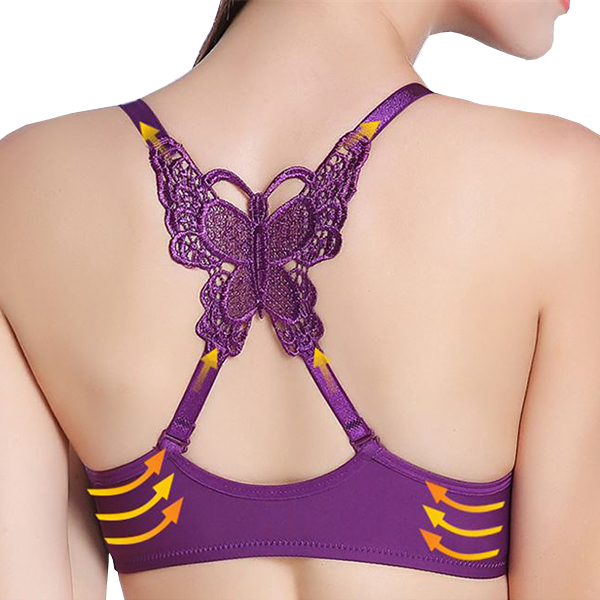 Women Sexy Front Closure Butterfly Adjusted Bras