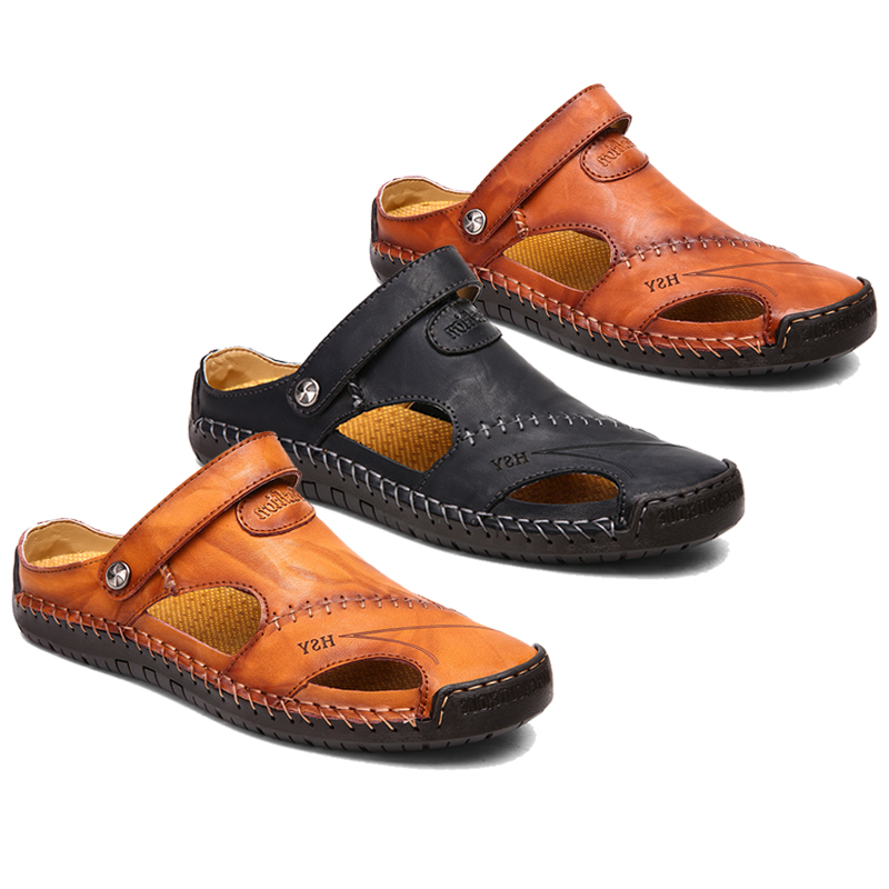 Menico Hand Stitching Leather Sandals