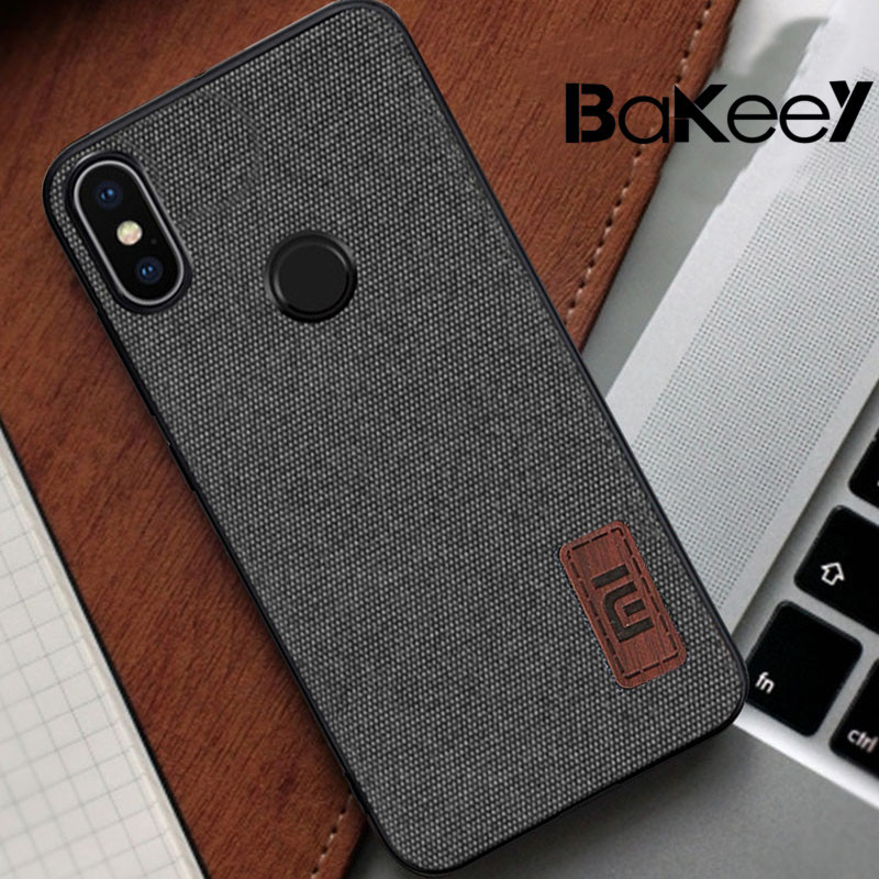 Bakeey Fabric Splice Soft Edge Shockproof Protective Case For Xiaomi Mi A2 Lite / Xiaomi Redmi 6 Pro