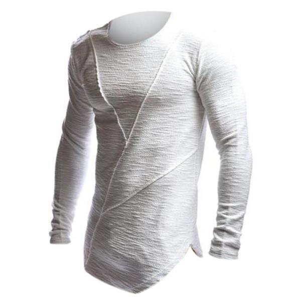 Men's Fashion Crew Neck Long Sleeve Muscle T-shirt