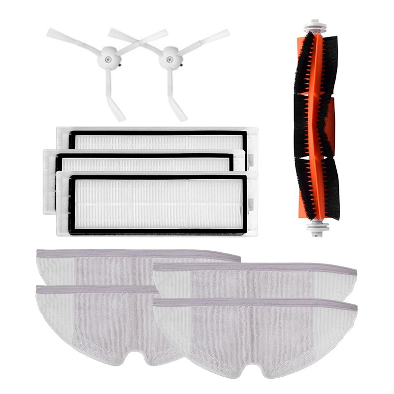 8pcs Robot Vacuum Cleaner Side / Rolling Brushes HEPA Filters Replacements for Xiaomi Roborock Mi Robot Vacuum Cleaner