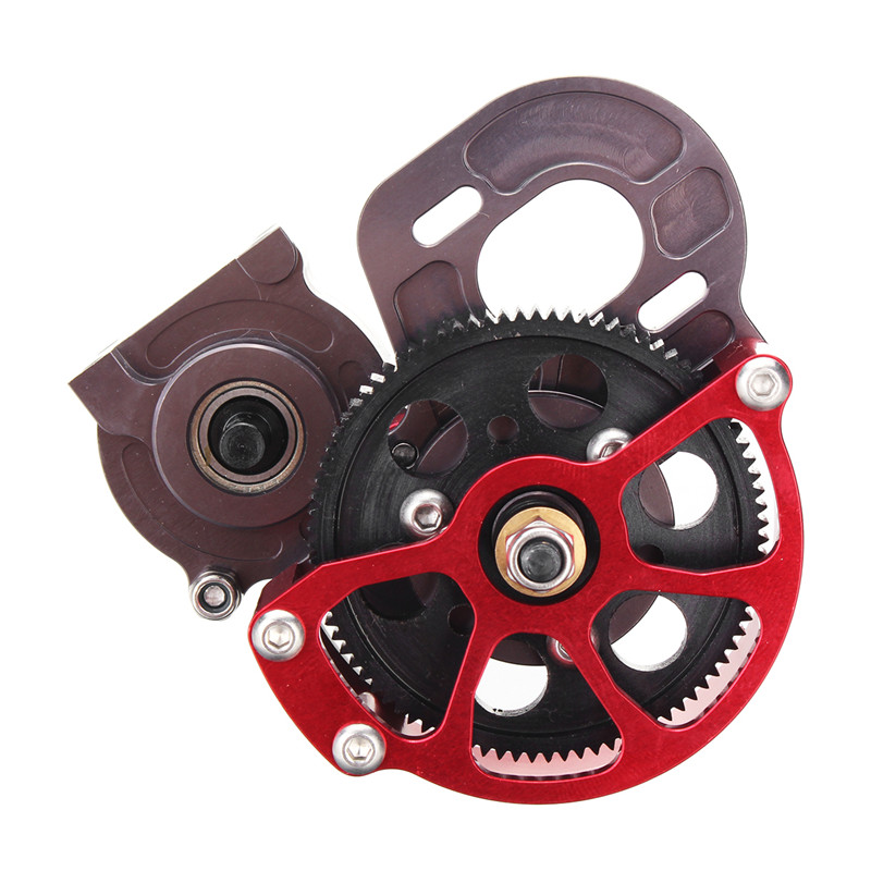 RC 1/10 Upgrade Aluminum Fully Assembled Transmission Metal Gearbox For Axial SCX10 Cars Parts