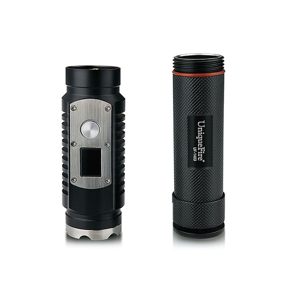 UniqueFire UF-1403 L2 1200LM Self-defense Digital Dispaly Brightness LED Flashlight