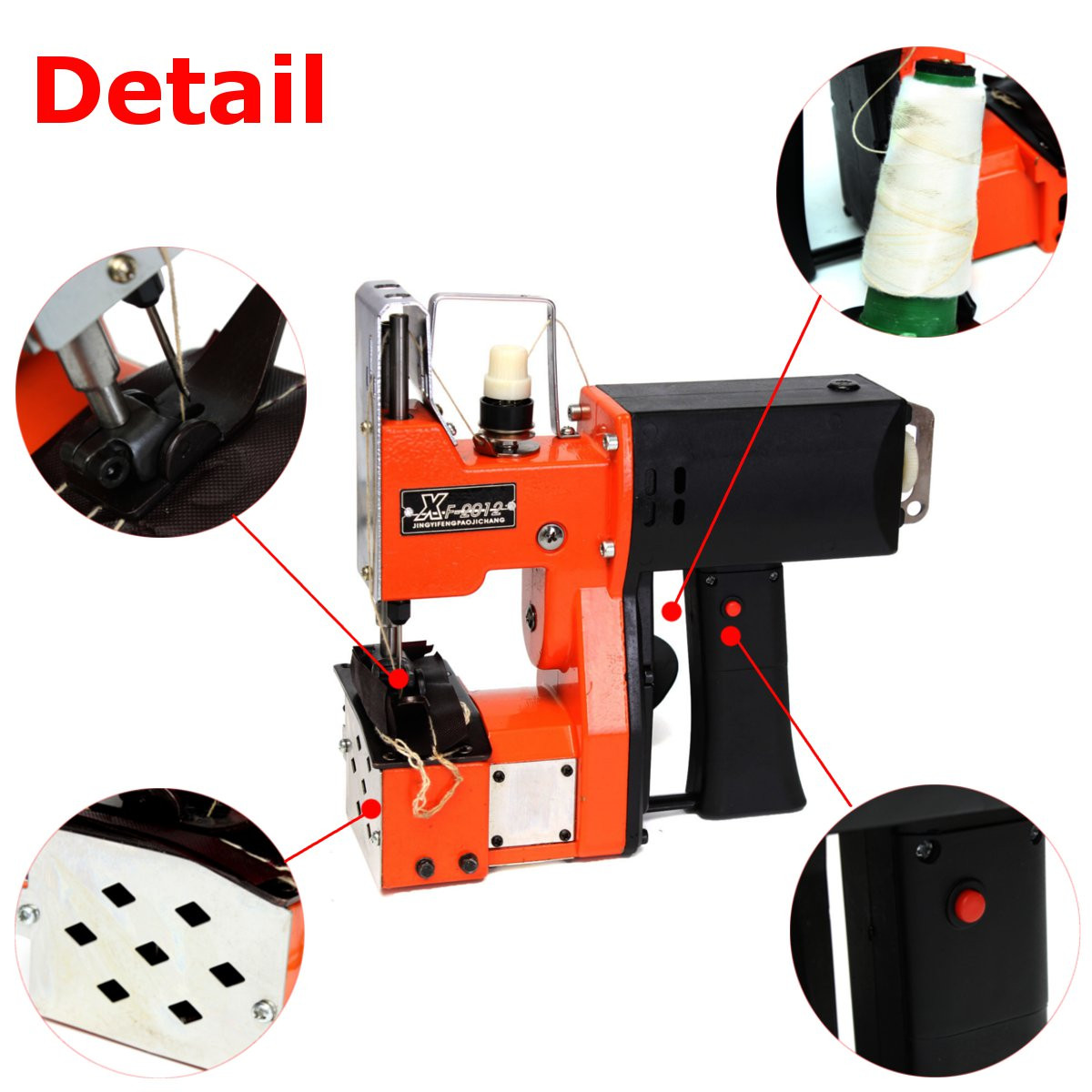 Drillpro 220V Portable Electric Sewing Machine Seal Ring Machines Industrial Cloth Machine