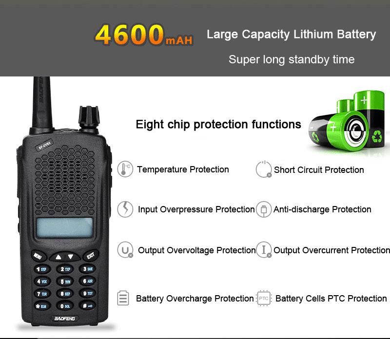 BAOFENG UV-B5PLUS 128 Channels 400-520MHz 10W Power Dual Band Two Way Handheld Radio Walkie Talkie