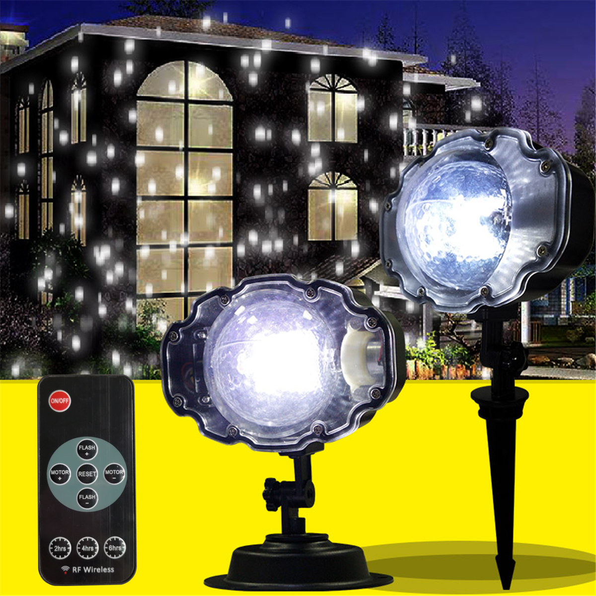Outdoor Waterproof Laser Projector Snowflake LED Lamp Light Christmas Garden Home Decor Light