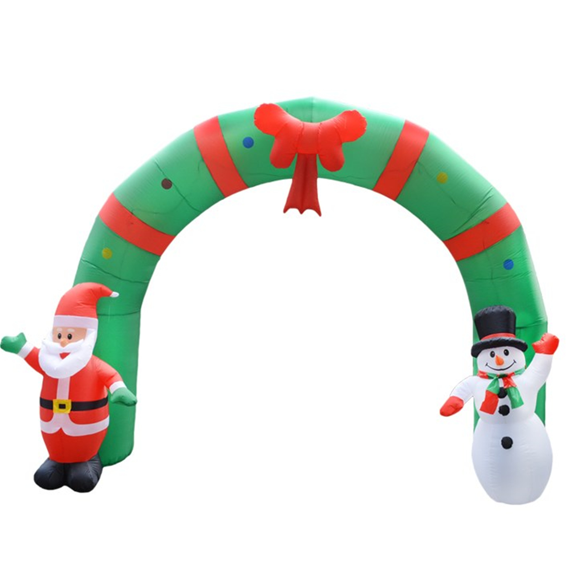 250cm Huge Inflatable Christmas Arch ArchwaySanta Snowman Indoor Outdoor Decorations