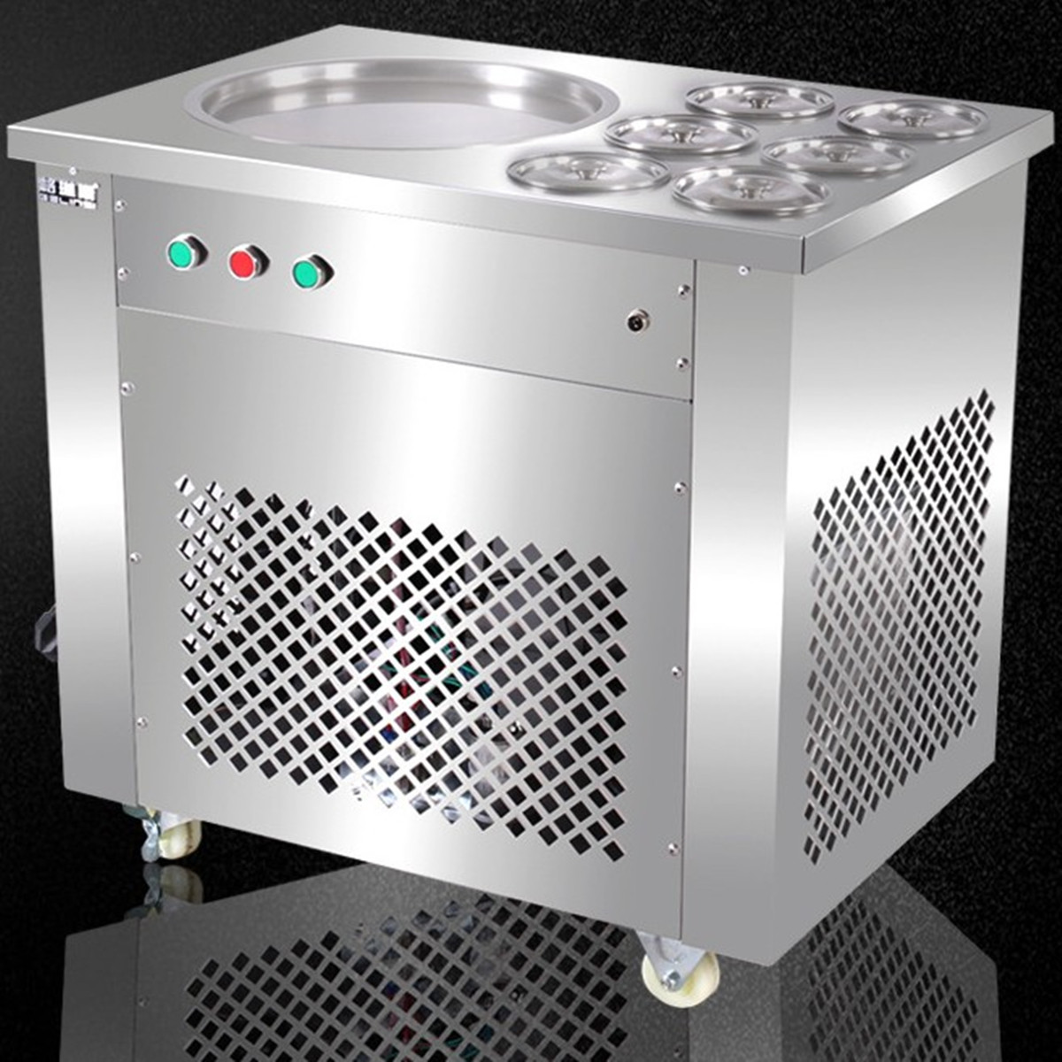 220V/110V Fried Ice Machine With 6 Barrels Ice Cream Making Machine