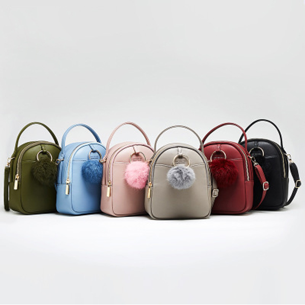 Women Faux Leather Brief Tiny Backpack Shoulder Bag