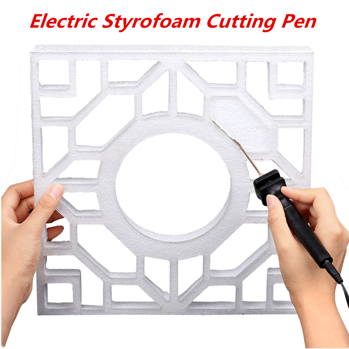 Raitool™ FC01 Electric Styrofoam Cutter Craft Pen Foam Cutting Tool DC 5.9V 10cm