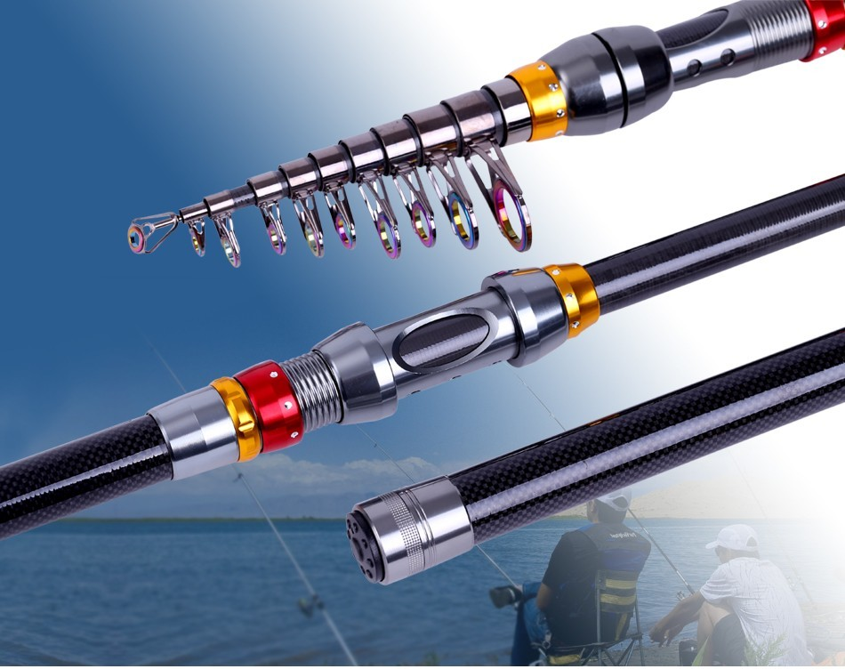ZANLURE TSR-01 Telescopic Fishing Rod Carbon Spinning Sea Fishing Pole Hand Fishing Tackle Sea Rod