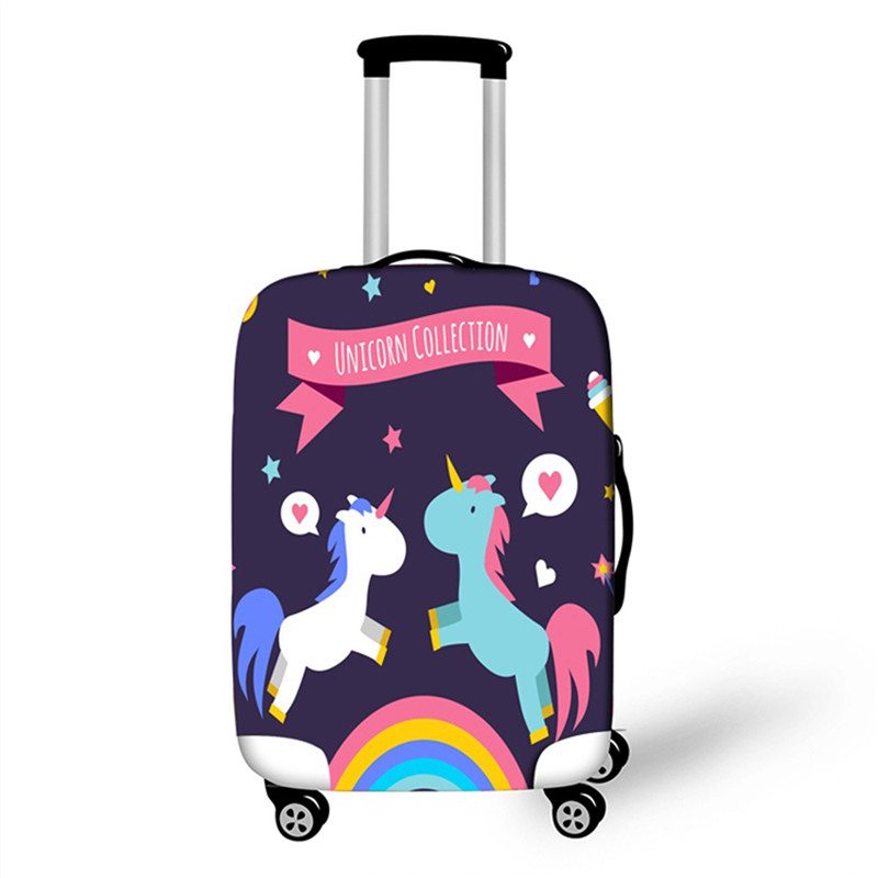 Unicorn Luggage Cover Protector Elastic Suitcase Bag Dustproof Scratch-resistant Cover