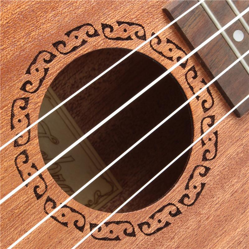 Zebra 21 Inch 15 Frets Soprano 4 Strings Ukulele With Open Style String Button