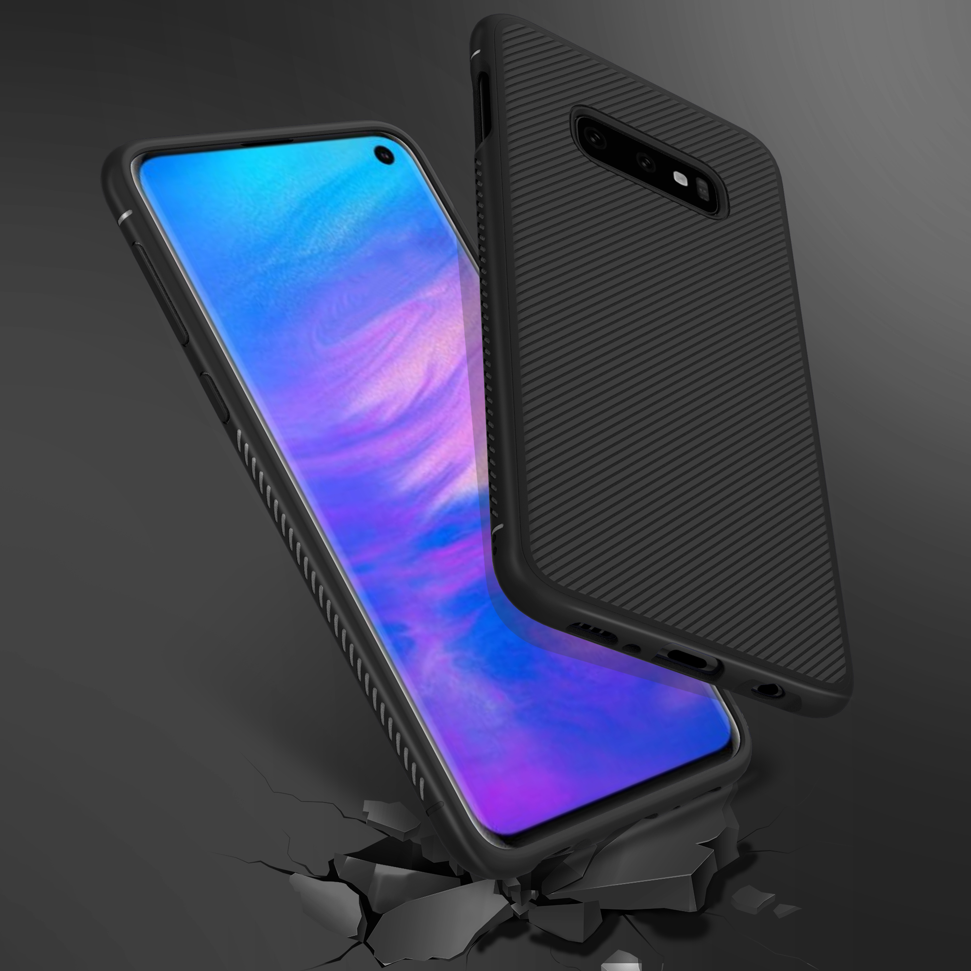 Bakeey Carbon Fiber Protective Case For Samsung Galaxy S10e Shockproof Soft TPU Back Cover