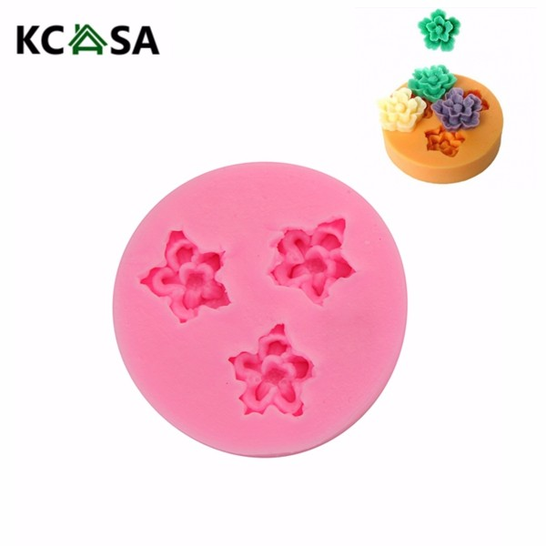 F0049 Silicone Resin Flower Mold Chocolate Soap Handmade Mold
