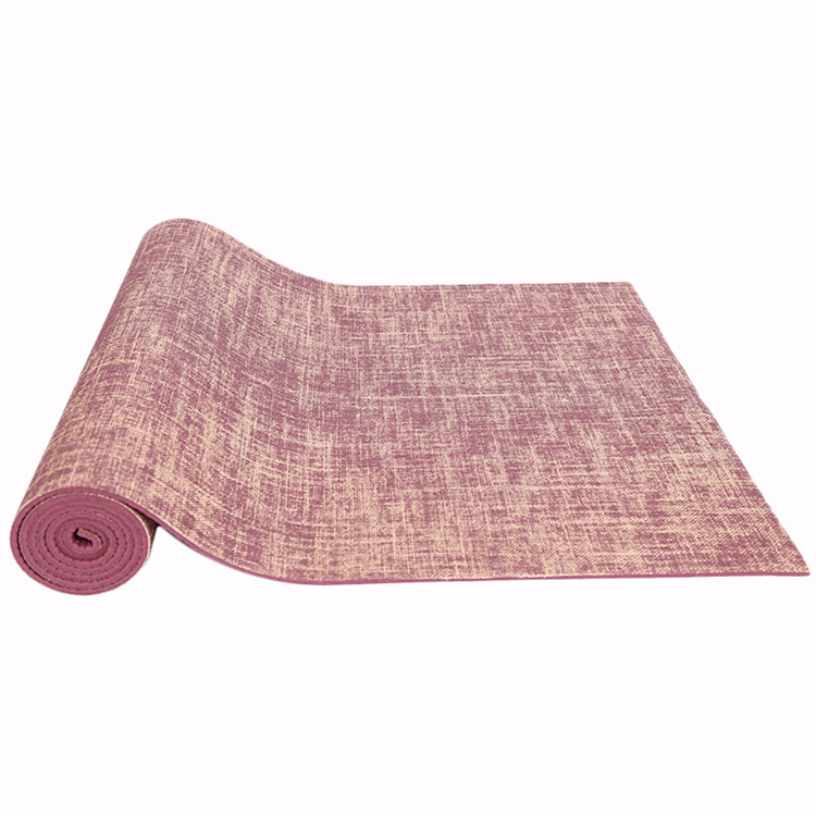 Fitness Linen Yoga Mat Lengthen Thickening 0.5mm Fold Slip Resistant Eco Friendly
