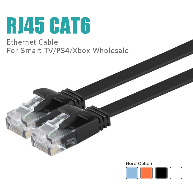 5M Cat-6 RJ45 Flat Ethernet Networking Cable LAN Cable for PC Router