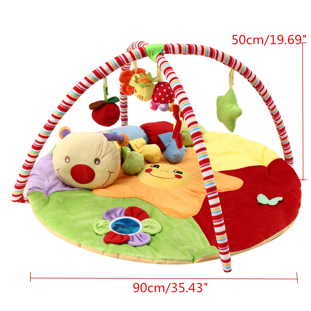 Baby Musical Play Mat Gratis Tummy Time Caterpillar Soft Toy Premium Baby Play Mat