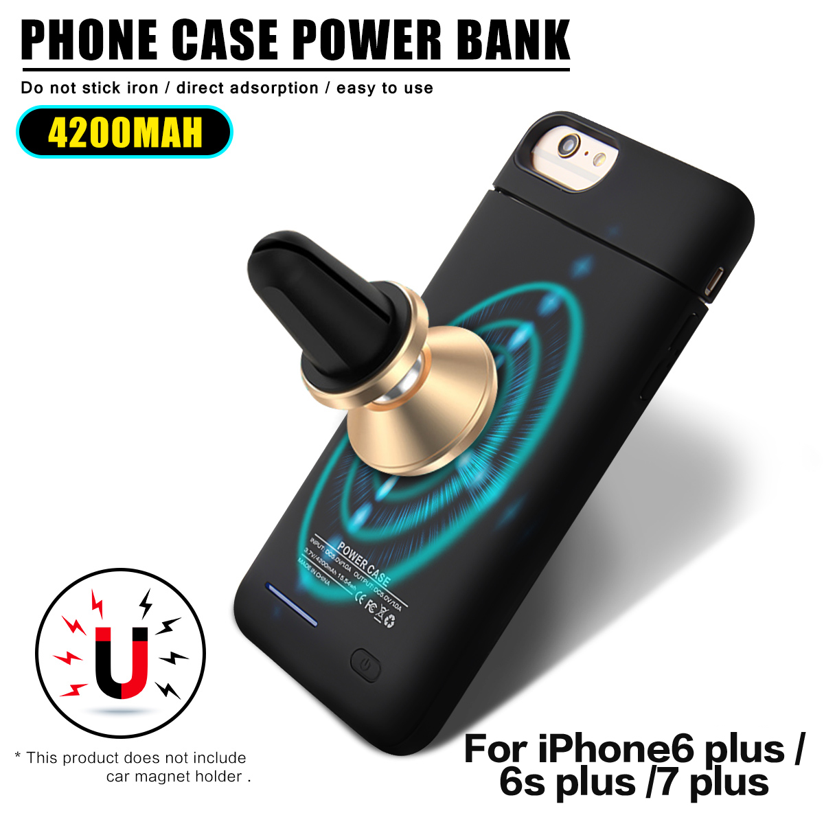4200mAh External Battery Protective Case For iPhone 7 Plus/6s Plus/6 Plus 5.5 Inch Back Up Power Bank