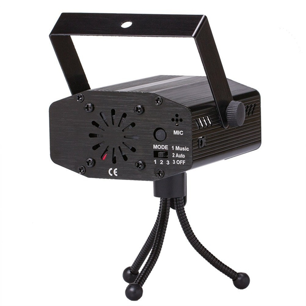 12W Sound Activated Remote Control Water Wave LED Stage Light 7 Color Projector Disco Party KTV
