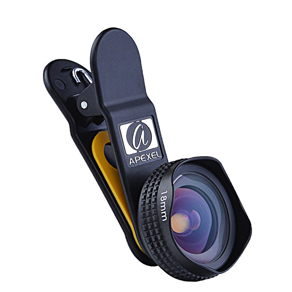 Apexel 18mm Optical HD Wide Angle Portrait Lens for Android Ios Iphone Smartphone