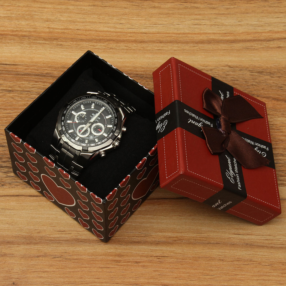 Watch Bracelet Jewelry Gift Square Box Case Storage Holder