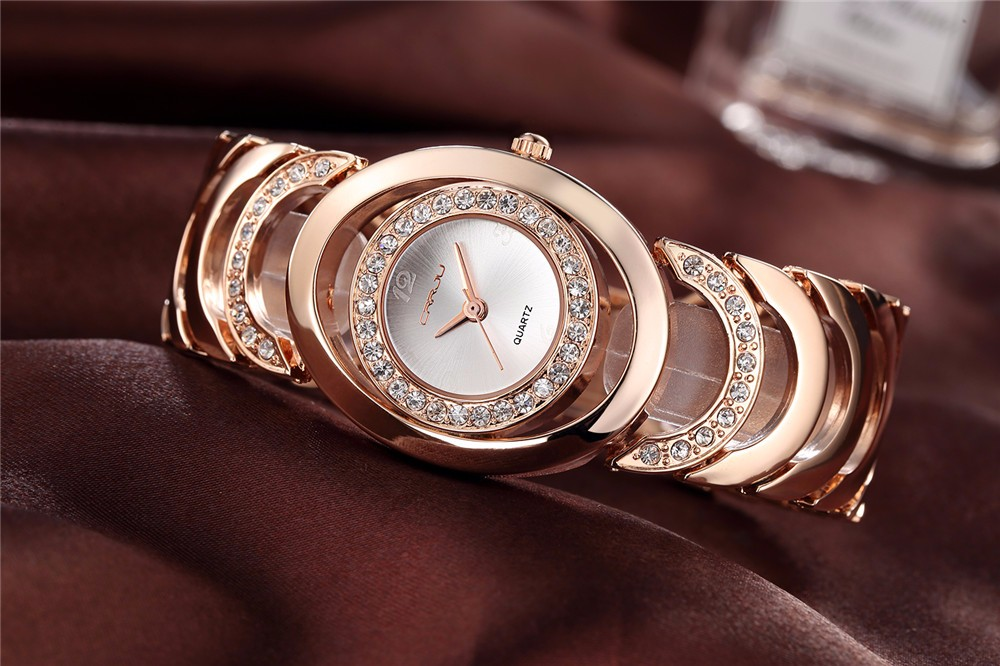 CRRJU 2201 Luxury Women Quartz Bracelet Watch
