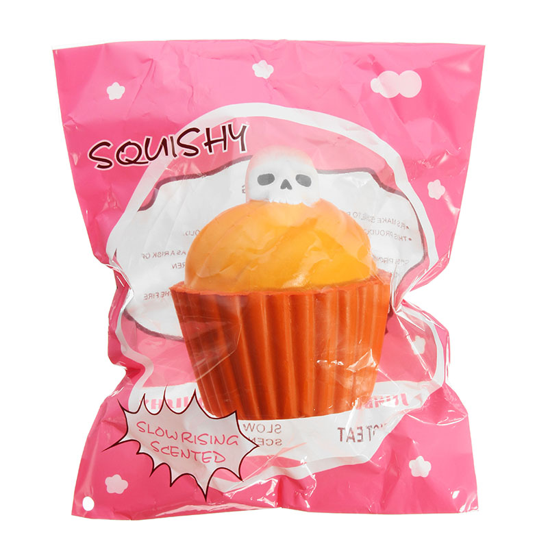 YunXin Squishy Pumpkin Puff Cake Glow In Dark Halloween Slow Rising With Packaging Collection Gift