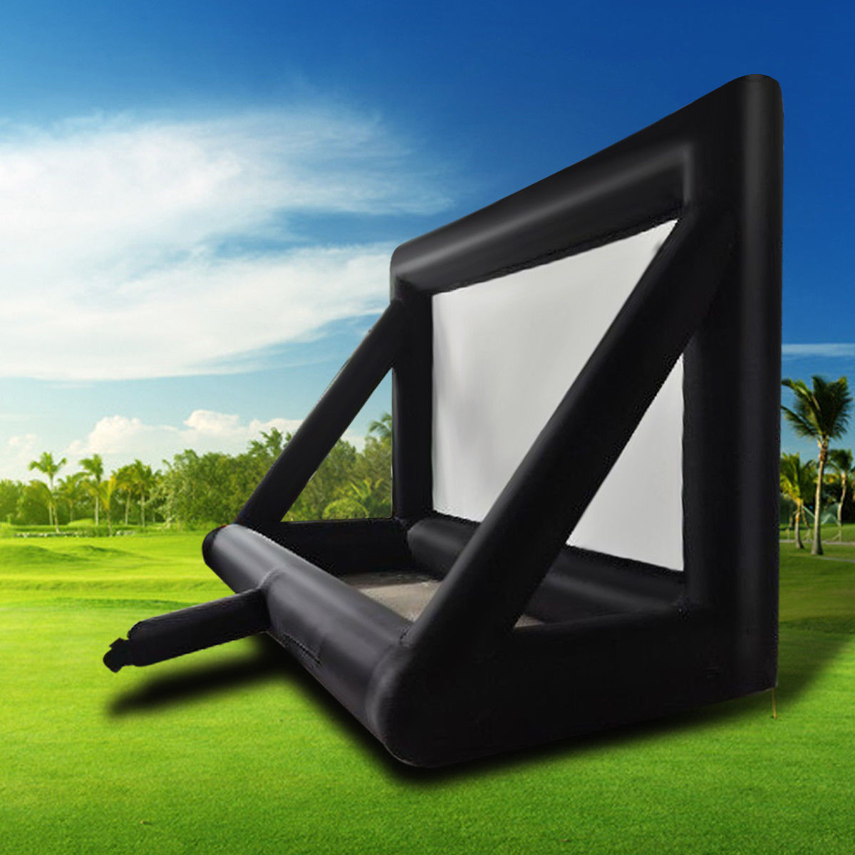 8x6m 26ftx20ft 16:9 Inflatable Projection Movie Display Screen Home Backyard Theater