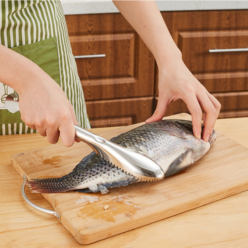 KCASA KC-SP096 Fast Stainless Steel Fish Scale Scrape Remover Killer Kitchen Seafood Tools