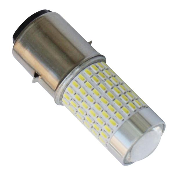 12V 1200lm Headlight Bulb High/Low Beam Led Lamp For Scooter/Moped/Motor Light 144SMD H6 BA20D